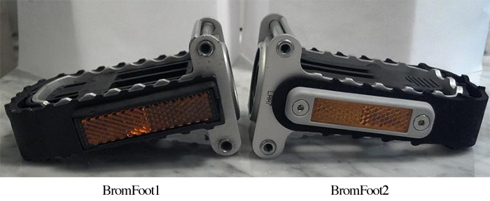 Original Brompton folding pedal and New Brompton folding pedal BromFoot
