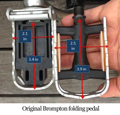 Original Brompton folding pedal
